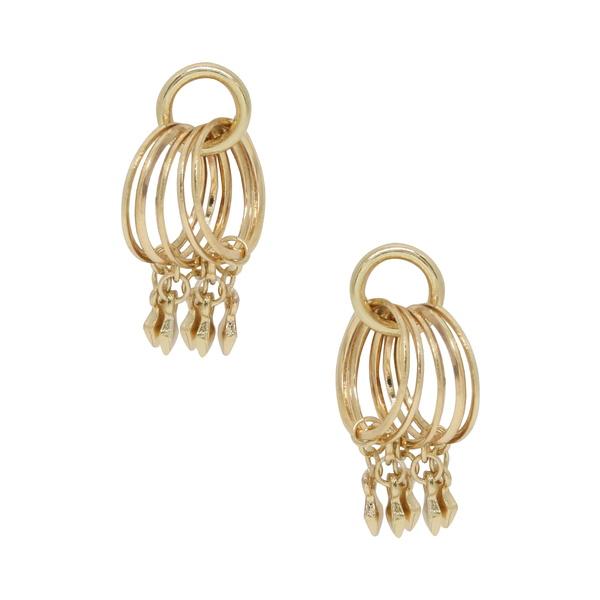 エティカ レディース ピアス&イヤリング アクセサリー Charm Hoop Stud Earrings Gold