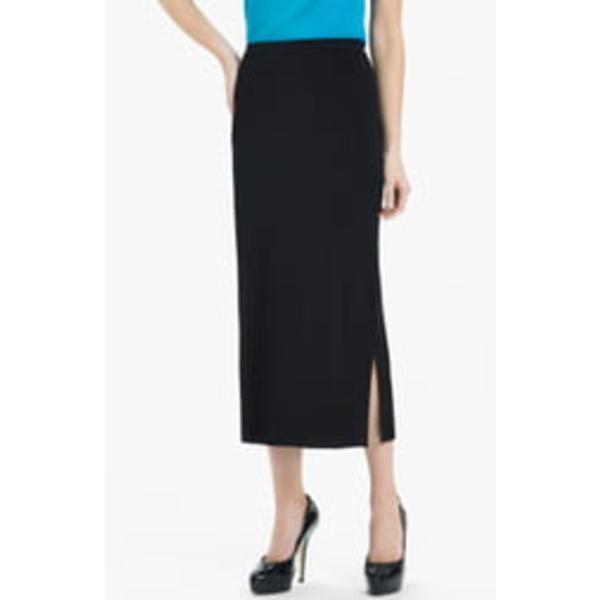 ミンウォン レディース スカート ボトムス Side Slit Knit Midi Skirt Black