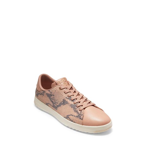 コールハーン レディース スニーカー シューズ GrandPro Tennis Shoe Mahogany Rose Snake Leather