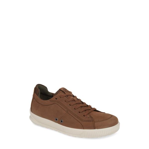 エコー メンズ スニーカー シューズ Byway Sneaker Cocoa Brown Leather
