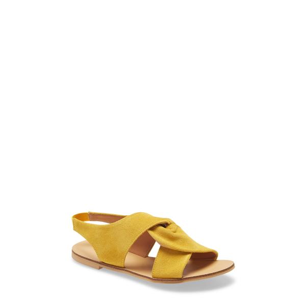 クラブニコ レディース サンダル シューズ Jainne Twist Sandal Yellow Suede