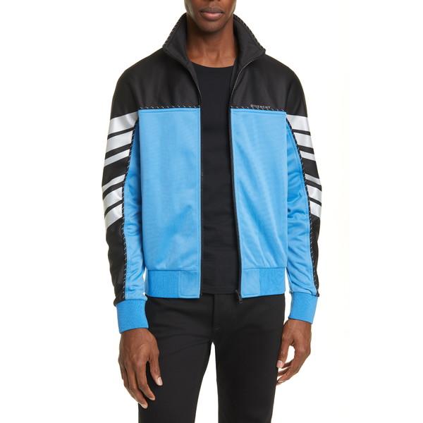 ジバンシー メンズ ジャケット&ブルゾン アウター Reflective Stripe Track Jacket Black/ Blue