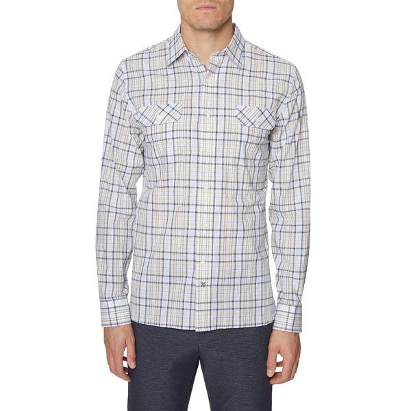 ヒッキーフリーマン メンズ シャツ トップス Seersucker Bedford Plaid Button-Up Shirt Lime