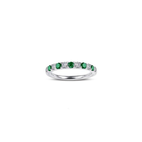 ラフォン レディース リング アクセサリー Simulated Diamond Birthstone Band Ring May - Green/ Silver