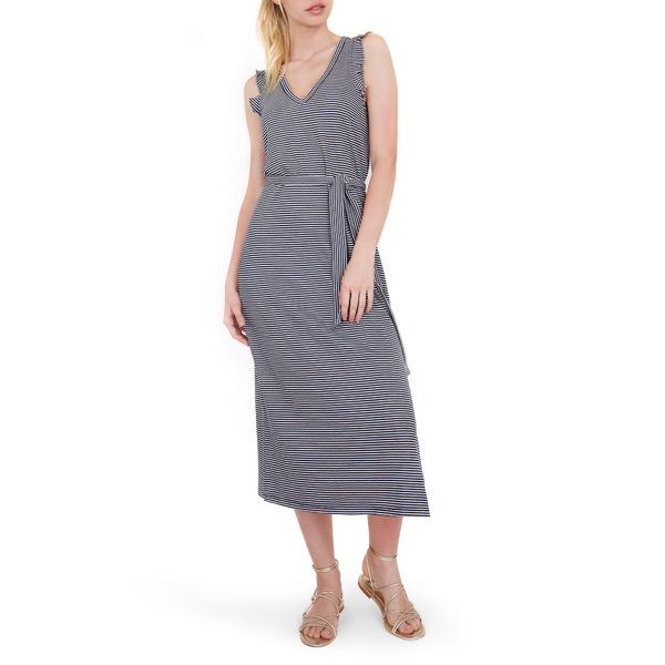 ペイジ レディース ワンピース トップス Ravyn Stripe Sleeveless Midi Dress Navy/ White Stripe