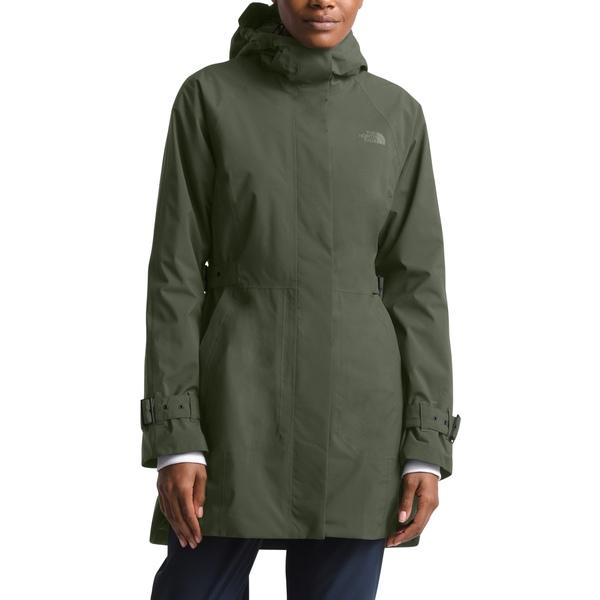 ノースフェイス レディース コート アウター City Breeze Waterproof Trench Raincoat New Taupe Green