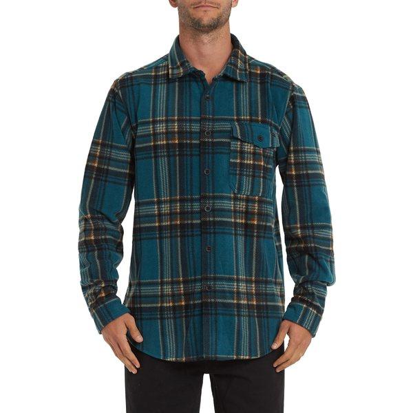 ビラボン メンズ シャツ トップス Furnace Flannel Button-Up Shirt Emerald
