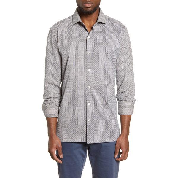 ブガッチ メンズ シャツ トップス Regular Fit Knit Button-Down Shirt Mocha