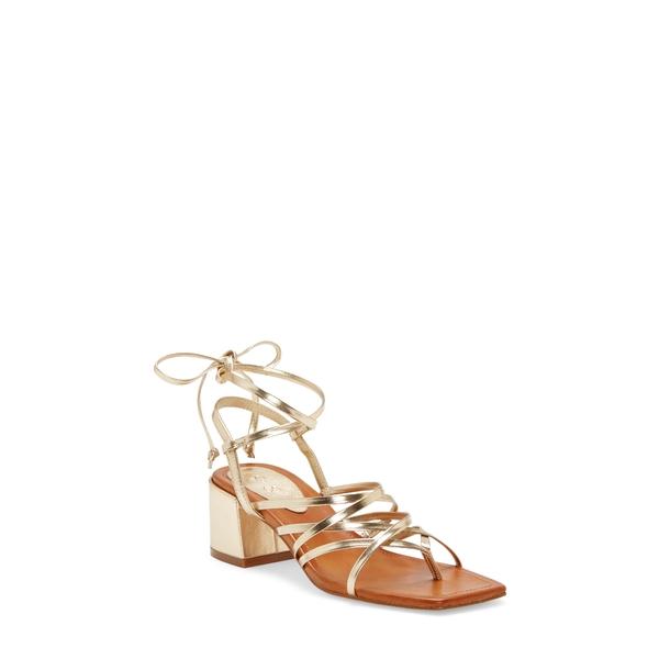 ジェシカシンプソン レディース サンダル シューズ Ivelle Block Heel Sandal Karat Gold Faux Leather