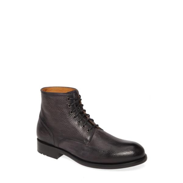 マグナーニ メンズ ブーツ&レインブーツ シューズ Pierce Plain Toe Boot Grey Leather
