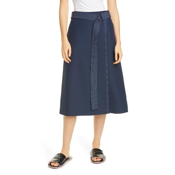 パートウ レディース スカート ボトムス Dane Belted Faux Wrap Midi Skirt Navy