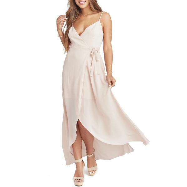 ウミーユアムーム レディース ワンピース トップス Mariah Wrap Gown Dusty Blush Crisp