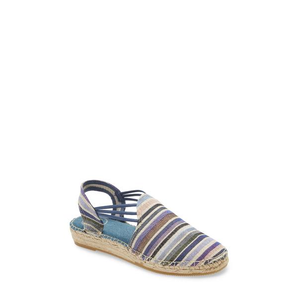 トニーポンズ レディース サンダル シューズ 'Noa' Espadrille Sandal Blue Fabric