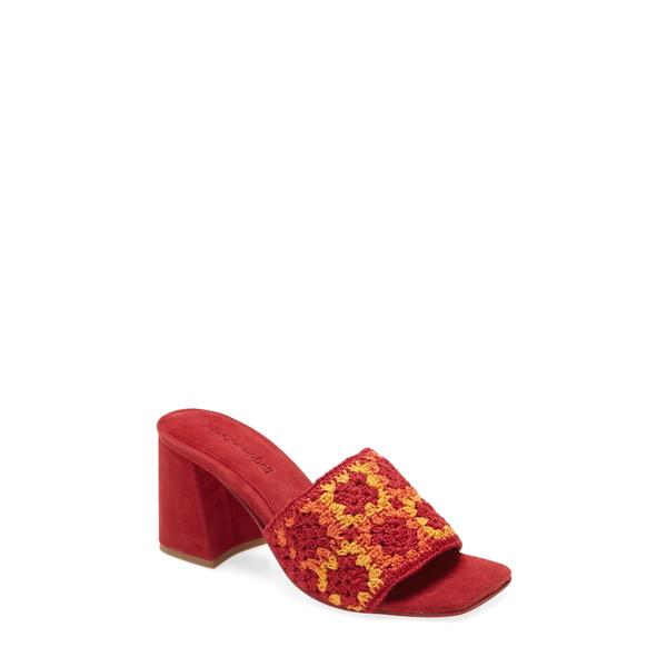 ジェフリー キャンベル レディース サンダル シューズ Mixup Block Heel Slide Sandal Red Multi