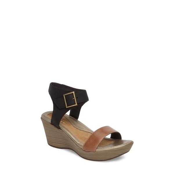 ナオト レディース サンダル シューズ Caprice Wedge Sandal Tan Leather