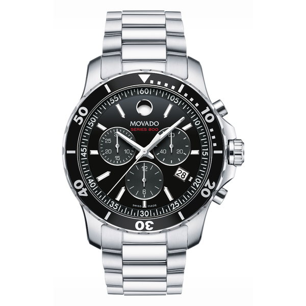 モバド メンズ ブレスレット・バングル・アンクレット アクセサリー 'Series 800' Chronograph Bracelet Watch, 42mm Silver/ Black/ Silver