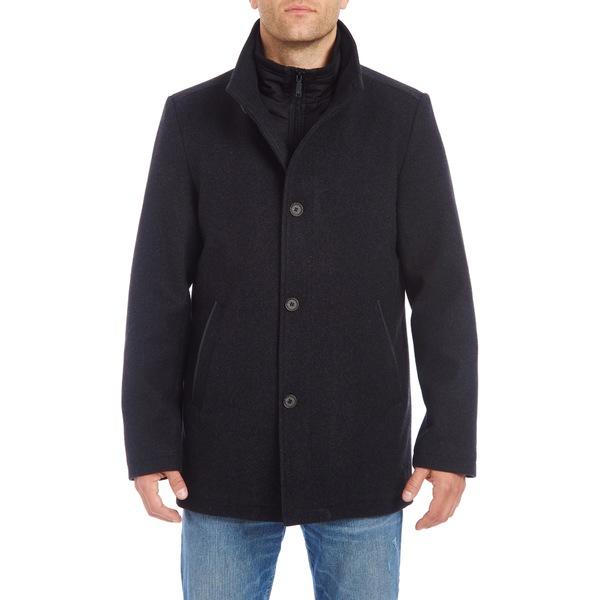 ヴィンスカムート メンズ コート アウター Short Wool Blend Car Coat Charcoal