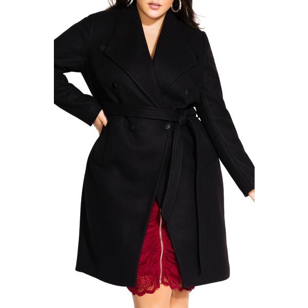 シティーシック レディース ジャケット&ブルゾン アウター Sultry Military Coat Black