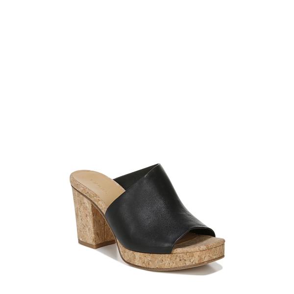 ヴィンス レディース サンダル シューズ Wyatt Platform Sandal Black Leather