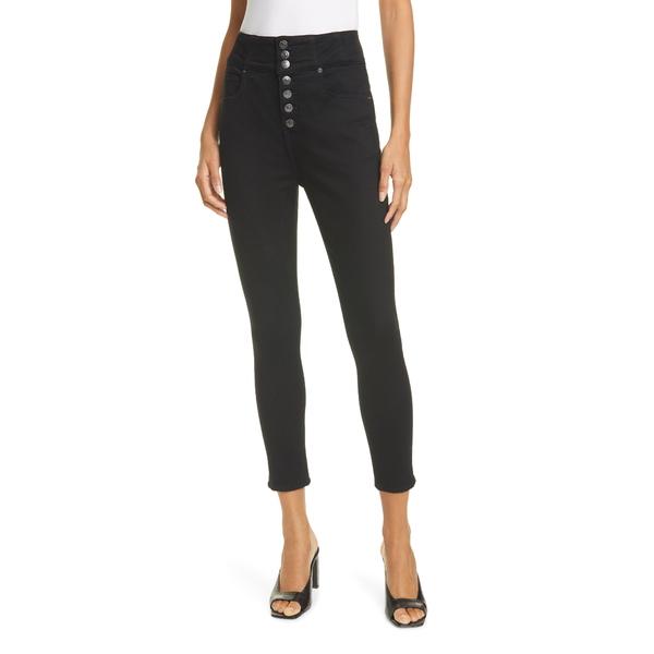 ヴェロニカ ベアード レディース デニムパンツ ボトムス Katherine High Waist Crop Skinny Jeans Raven
