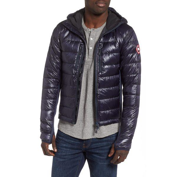 カナダグース メンズ ジャケット&ブルゾン アウター 'Hybridge Lite Hoody' Slim Fit Packable Jacket Navy