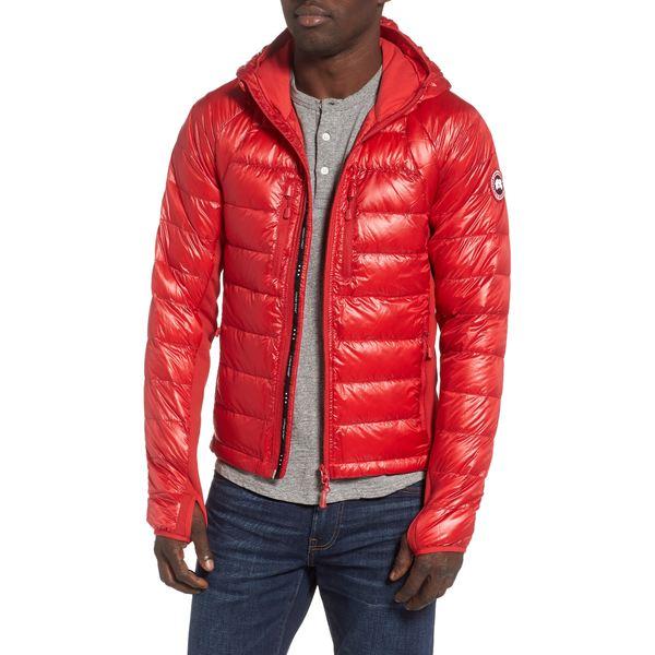 カナダグース メンズ ジャケット&ブルゾン アウター 'Hybridge Lite Hoody' Slim Fit Packable Jacket Red