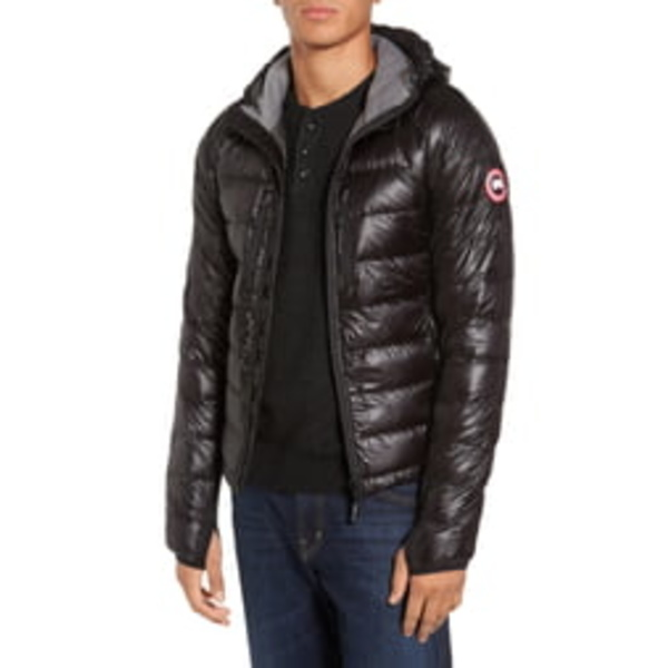 カナダグース メンズ ジャケット&ブルゾン アウター 'Hybridge Lite Hoody' Slim Fit Packable Jacket Black/Graphite