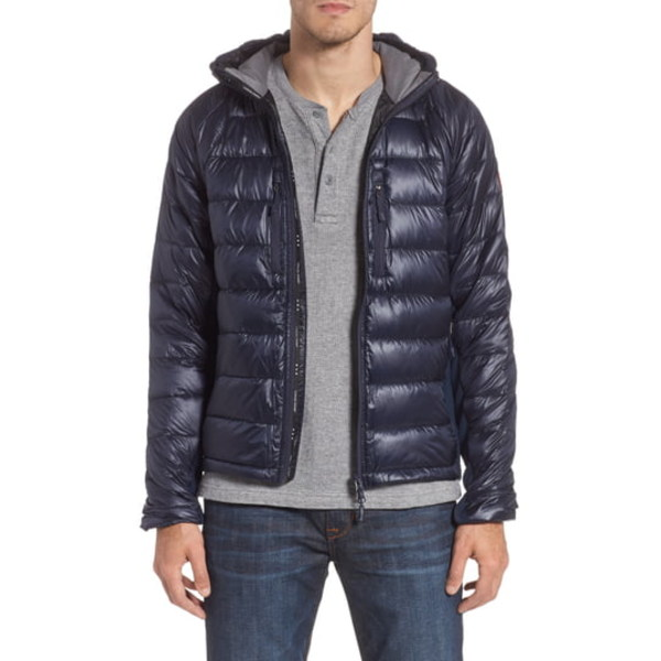 カナダグース メンズ ジャケット&ブルゾン アウター 'Hybridge Lite Hoody' Slim Fit Packable Jacket Admiral Blue/ Black