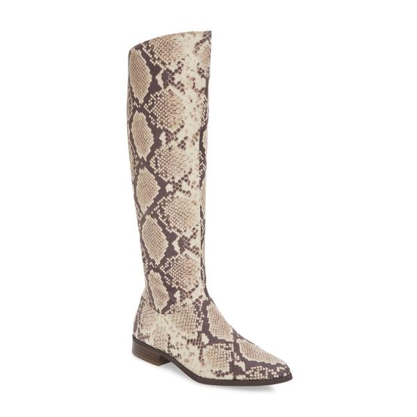 バンドオブジプシーズ レディース ブーツ&レインブーツ シューズ Luna Knee High Boot Natural Snake Print Fabric