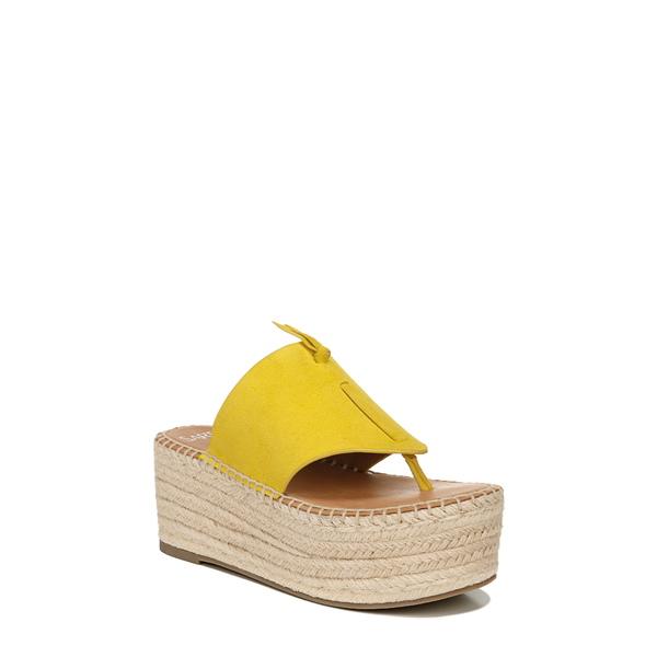 サルトバイフランコサルト レディース サンダル シューズ Malia Espradrille Wedge Slide Sandal Yellow Suede