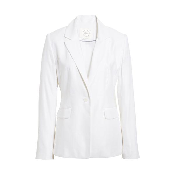 ワンナインオーワン レディース ジャケット&ブルゾン アウター One-Button Linen Blend Blazer White