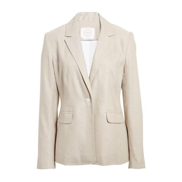 ワンナインオーワン レディース ジャケット&ブルゾン アウター One-Button Linen Blend Blazer Tan Crossdye