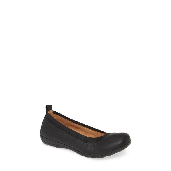 コンフォーティバ レディース サンダル シューズ Rosella Flat Black Leather
