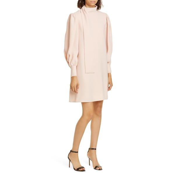 アディアム レディース ワンピース トップス Scarf Neck Long Sleeve Crepe Shift Dress Petal Pink