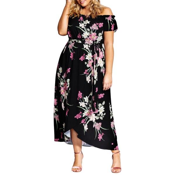 シティーシック レディース ワンピース トップス Floral Maxi Dress Lady Floral