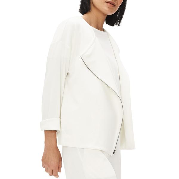 エイリーンフィッシャー レディース ジャケット&ブルゾン アウター Asymmetrical Zip Jacket Ivory