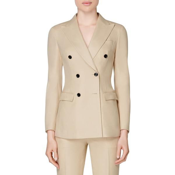スイスタジオ レディース ジャケット&ブルゾン アウター Cameron Double Breasted Wool Suit Jacket Sand