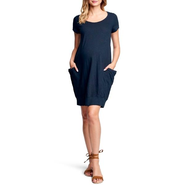 マターナルアメリカ レディース ワンピース トップス Maternal America Side Pocket Maternity Dress Black