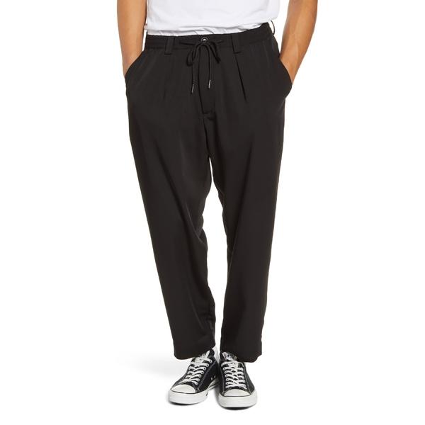 ドリフター メンズ カジュアルパンツ ボトムス Drifter Henderson Crop Drawstring Pants Black