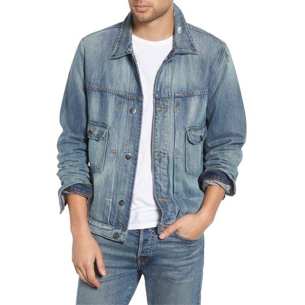 フレーム メンズ ジャケット&ブルゾン アウター FRAME L'Homme Distressed Denim Jacket Belvedere