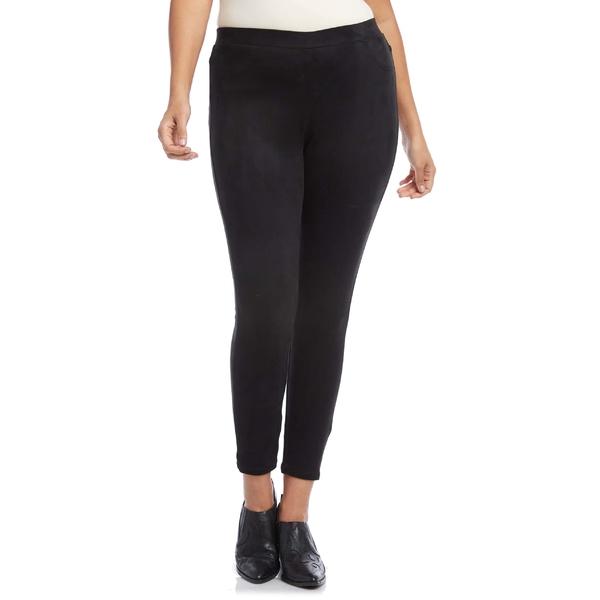 カレンケーン レディース カジュアルパンツ ボトムス Karen Kane Faux Suede Pants (Plus Size) Black