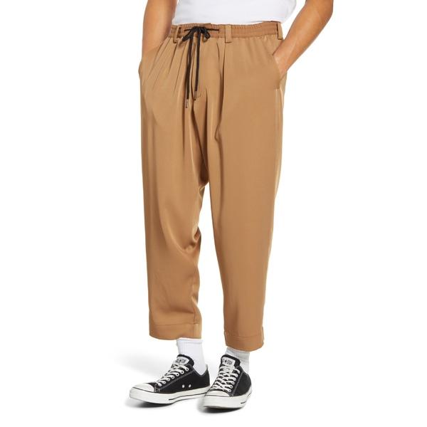ドリフター メンズ カジュアルパンツ ボトムス Drifter Henderson Crop Drawstring Pants Tawny Birch