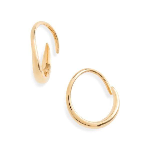 トムウッド レディース ピアス&イヤリング アクセサリー Tom Wood Mini Ear Loop Earrings 9k Gold