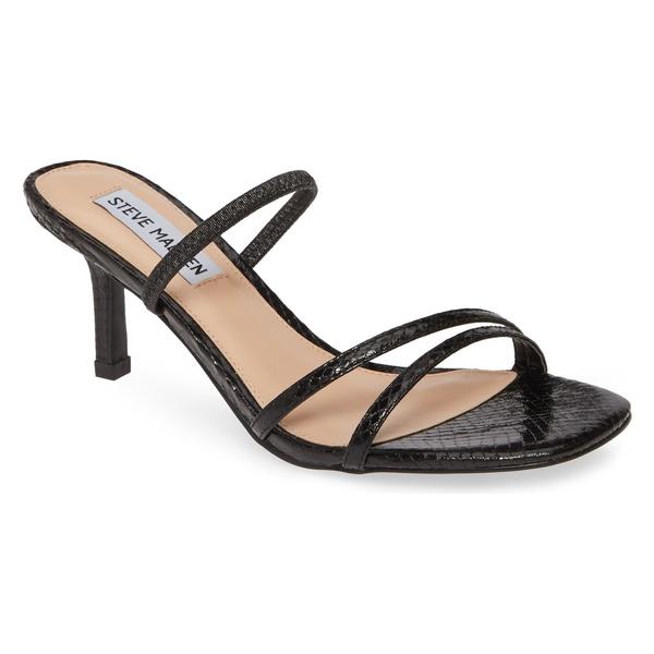 スティーブ マデン レディース サンダル シューズ Steve Madden Loft Slide Sandal (Women) Black Snake Print