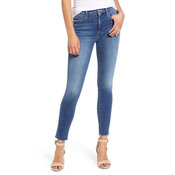 マザー レディース カジュアルパンツ ボトムス MOTHER 'The Looker' Frayed Ankle Jeans (Groovin) Groovin