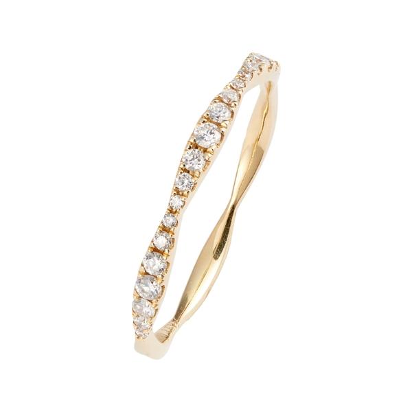 ボニー レヴィ レディース リング アクセサリー Bony Levy Aviva Diamond Stacking Ring (Nordstrom Exclusive) Yellow Gold/ Diamond