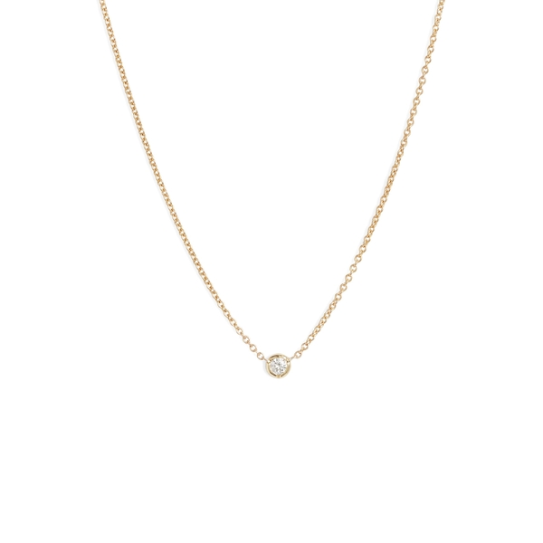 ボニー レヴィ レディース ネックレス・チョーカー・ペンダントトップ アクセサリー Bony Levy Petite Bezel Diamond Solitaire Necklace (Nordstrom Exclusive) Yellow Gold/ Diamond