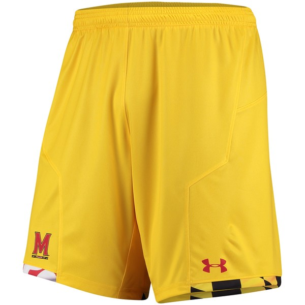 アンダーアーマー メンズ ハーフ&ショーツ ボトムス Maryland Terrapins Under Armour 2017 Replica Soccer Shorts Gold