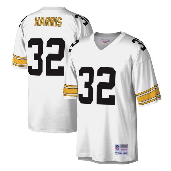 ミッチェル&ネス メンズ ユニフォーム トップス Franco Harris Pittsburgh Steelers Mitchell & Ness Legacy Replica Jersey Black