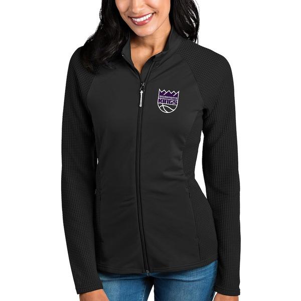 アンティグア レディース ジャケット&ブルゾン アウター Sacramento Kings Antigua Women's Sonar Full-Zip Jacket Black